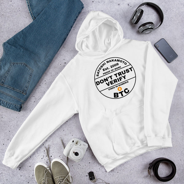 Bitcoin Hoodie Don't Trust Verify