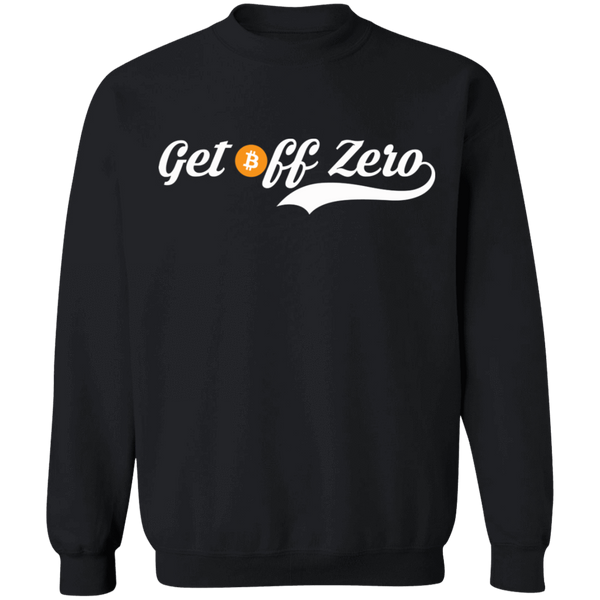 Bitcoin Sweatshirt Black / S Get Off Zero Sweatshirt