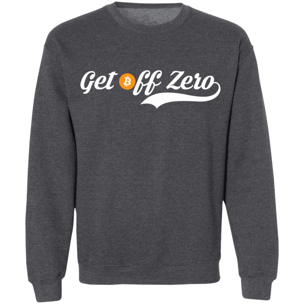 Bitcoin Sweatshirt Dark Heather / S Get Off Zero Sweatshirt