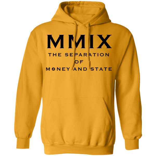 Bitcoin Hoodie Gold / S The Separation Of Money And State Hoodie