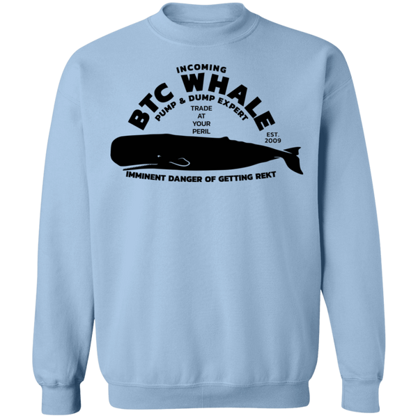 Bitcoin Sweatshirt Light Blue / S Incoming BTC Whale Sweatshirt