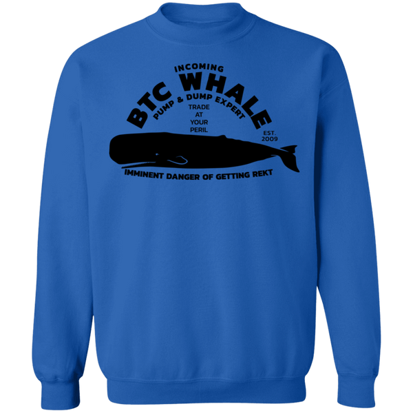 Bitcoin Sweatshirt Royal / S Incoming BTC Whale Sweatshirt
