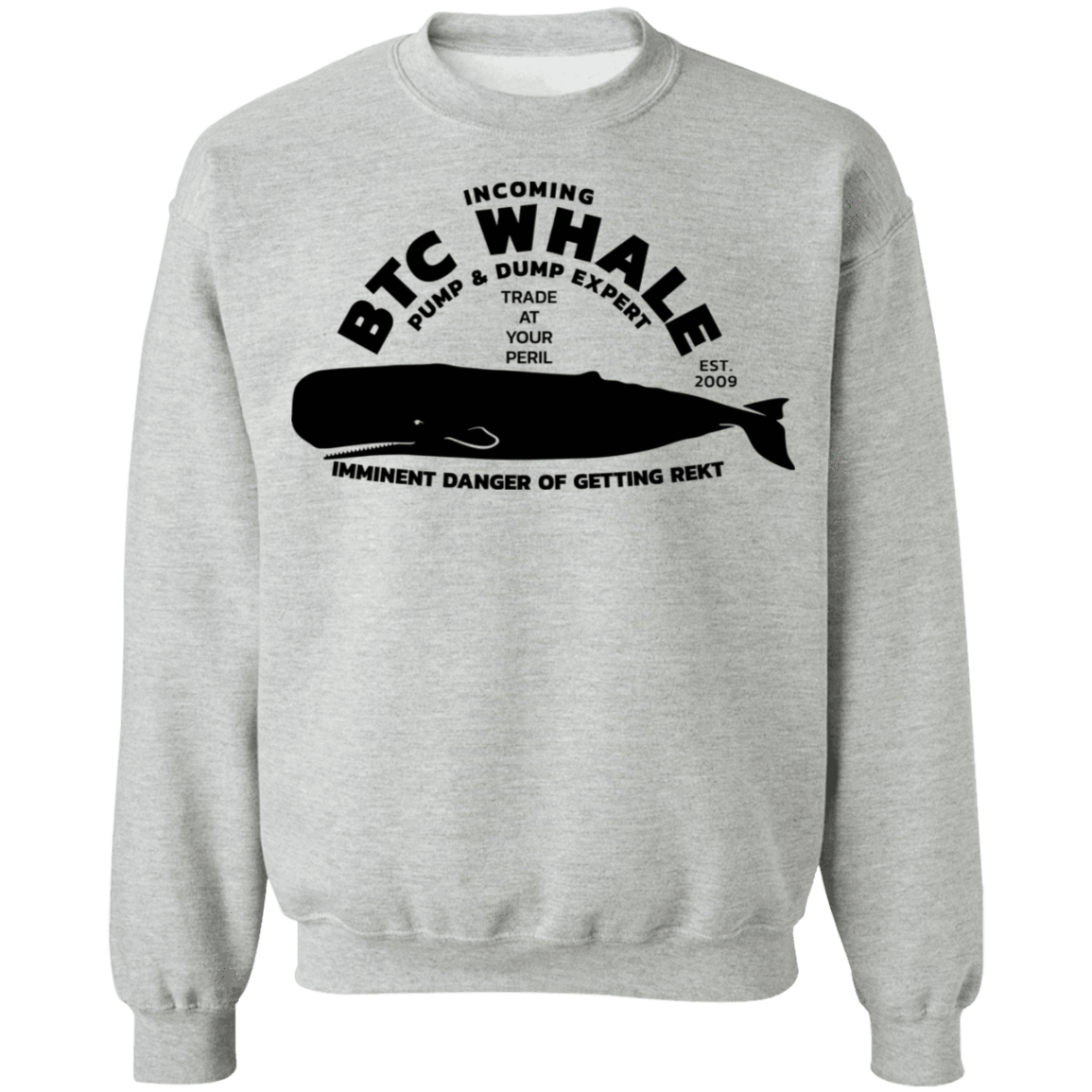 Bitcoin Sweatshirt Sport Grey / S Incoming BTC Whale Sweatshirt