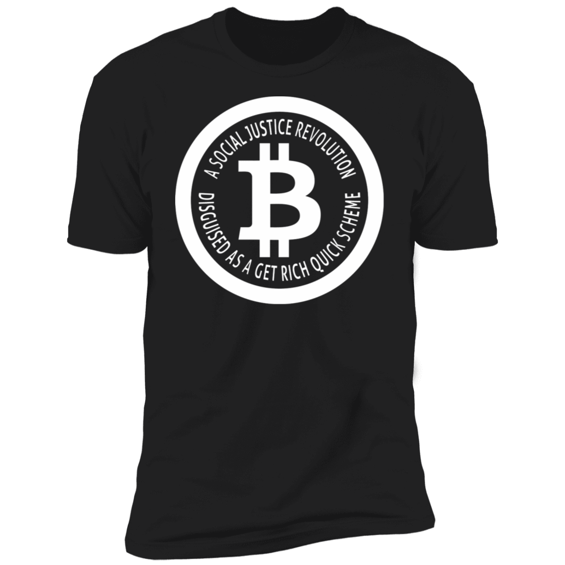 Bitcoin T shirt Black / X-Small A Social Justice Revolution T-Shirt