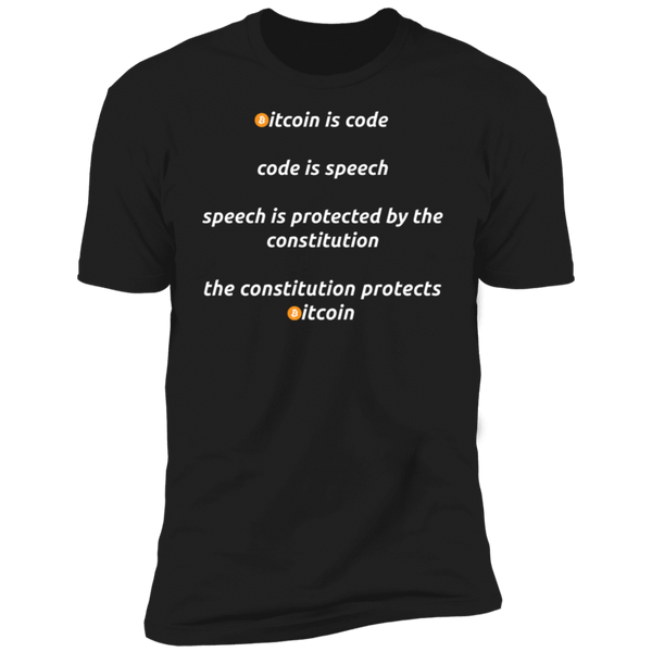 Bitcoin T shirt Black / X-Small Bitcoin Is Code T-Shirt