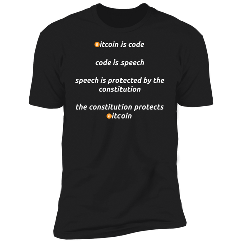 T-Shirts Black / X-Small Bitcoin Is Code T-Shirt