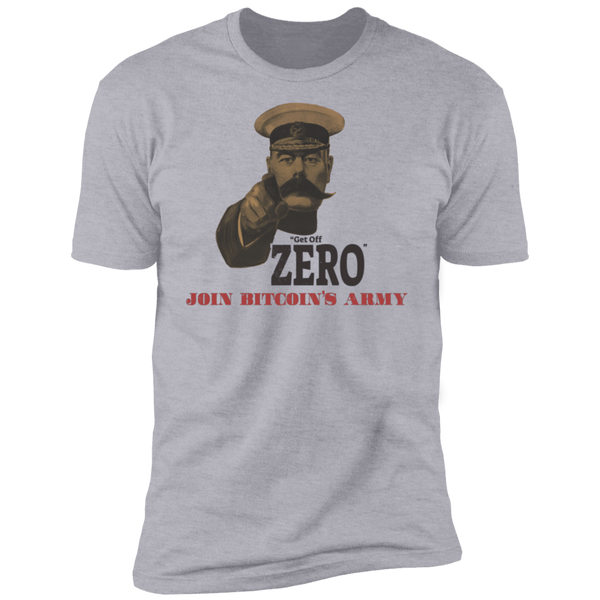 Bitcoin T shirt Heather Grey / X-Small Get Off Zero T-Shirt