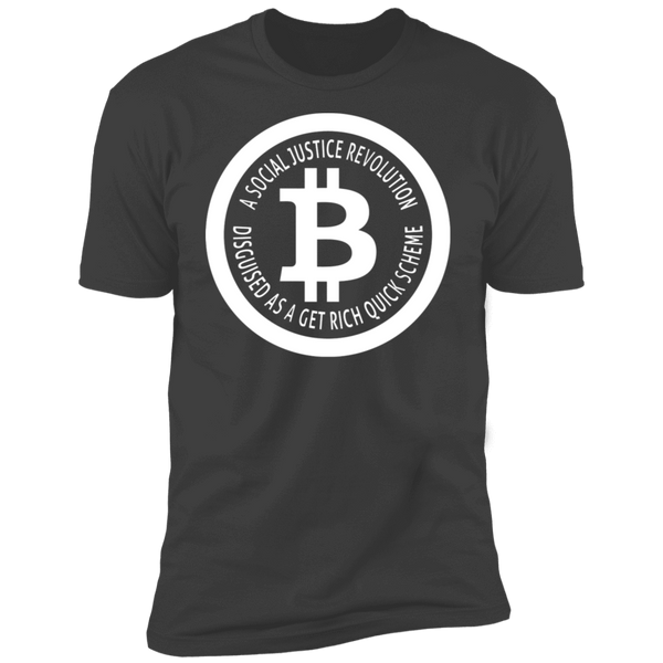 Bitcoin T shirt Heavy Metal / X-Small A Social Justice Revolution T-Shirt