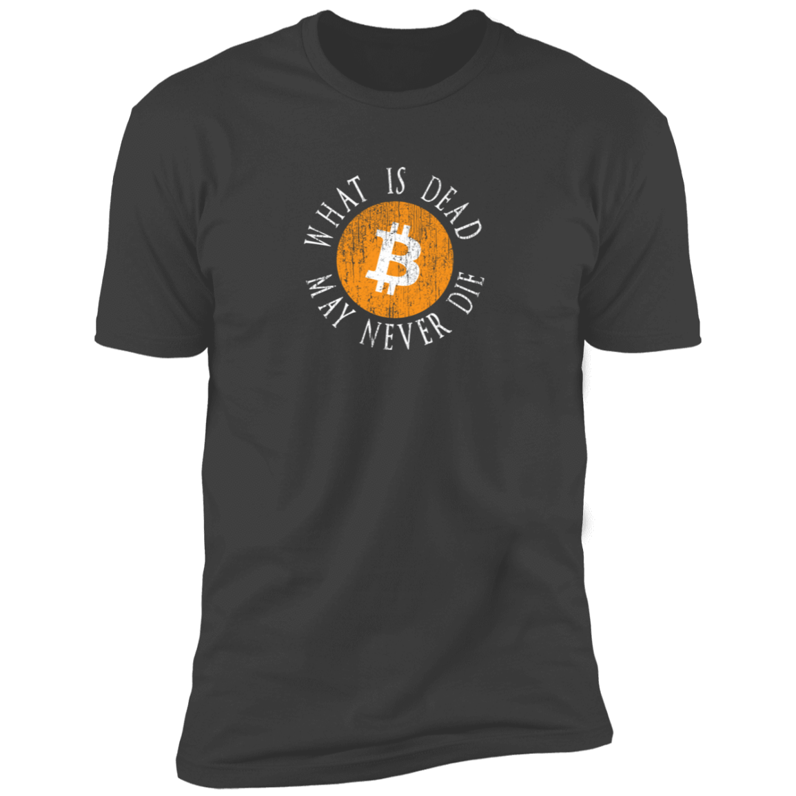 Bitcoin T shirt Heavy Metal / X-Small What Is Dead May Never Die T-Shirt