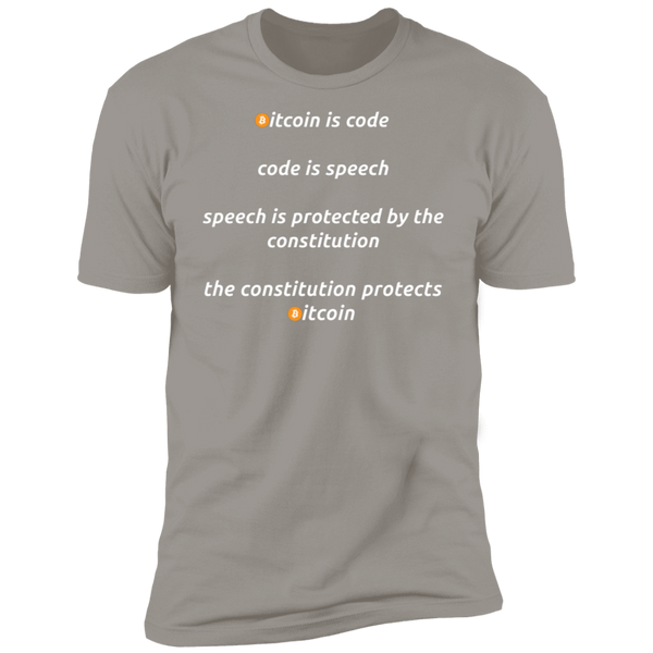 Bitcoin T shirt Light Grey / X-Small Bitcoin Is Code T-Shirt