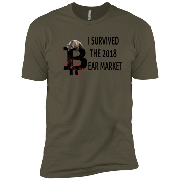T-Shirts Military Green / X-Small I Survived The 2018 Bear Market T-Shirt