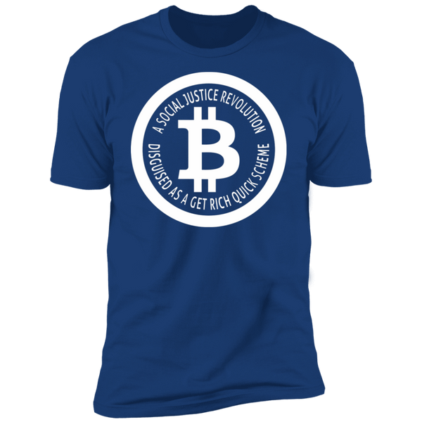 Bitcoin T shirt Royal / X-Small A Social Justice Revolution T-Shirt