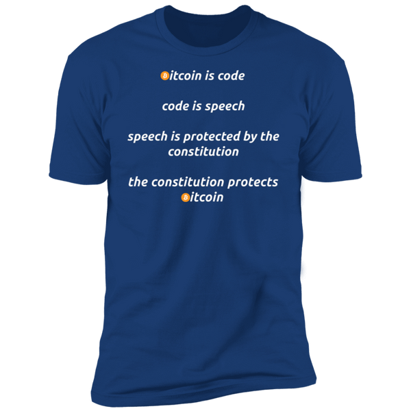 Bitcoin T shirt Royal / X-Small Bitcoin Is Code T-Shirt