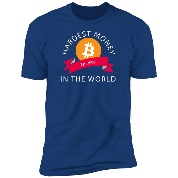 Bitcoin T shirt Royal / X-Small Hardest Money In The World T-Shirt