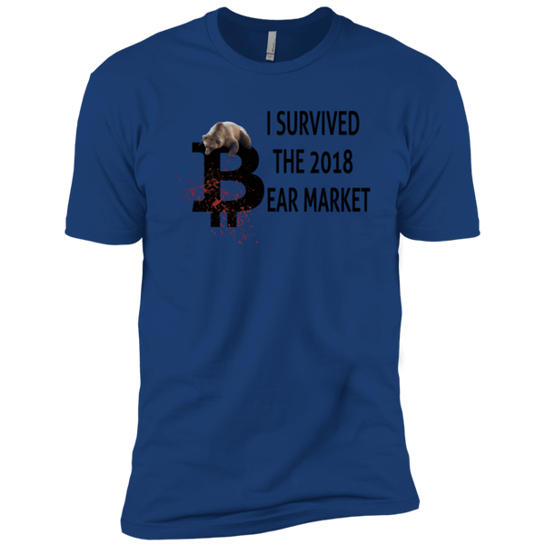 T-Shirts Royal / X-Small I Survived The 2018 Bear Market T-Shirt