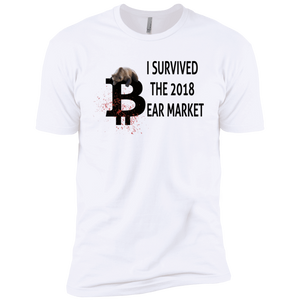 T-Shirts White / X-Small I Survived The 2018 Bear Market T-Shirt