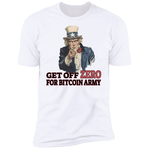 T-Shirts White / X-Small Uncle Sam Says Get Off Zero T-Shirt