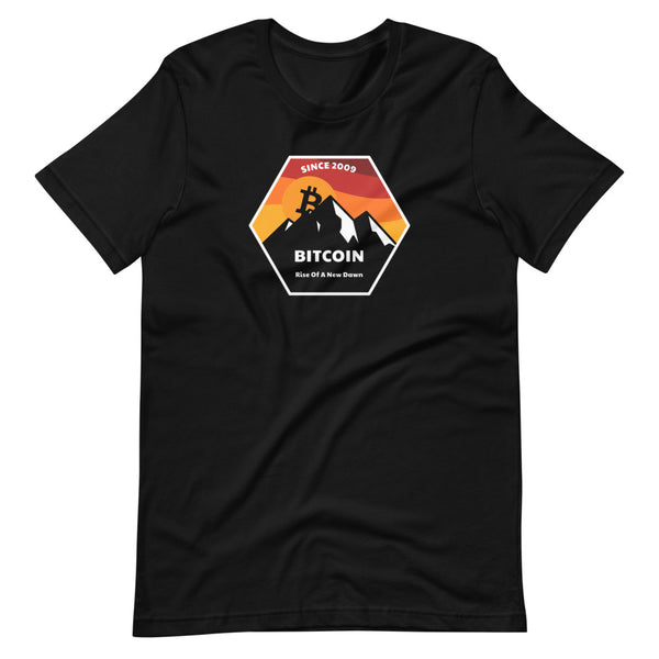 Rise Of A New Dawn Unisex Bitcoin T-Shirt - Bitcoin Merch - Hodl BTC