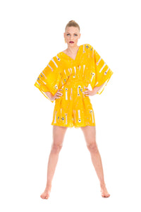 Jumpsuit Short, Yellow