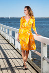 Wrap Dress, Yellow