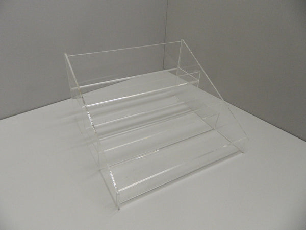 Confectionery, Crisps, Condiment etc. clear 4 or 3 Step Counter Display with optional dividers
