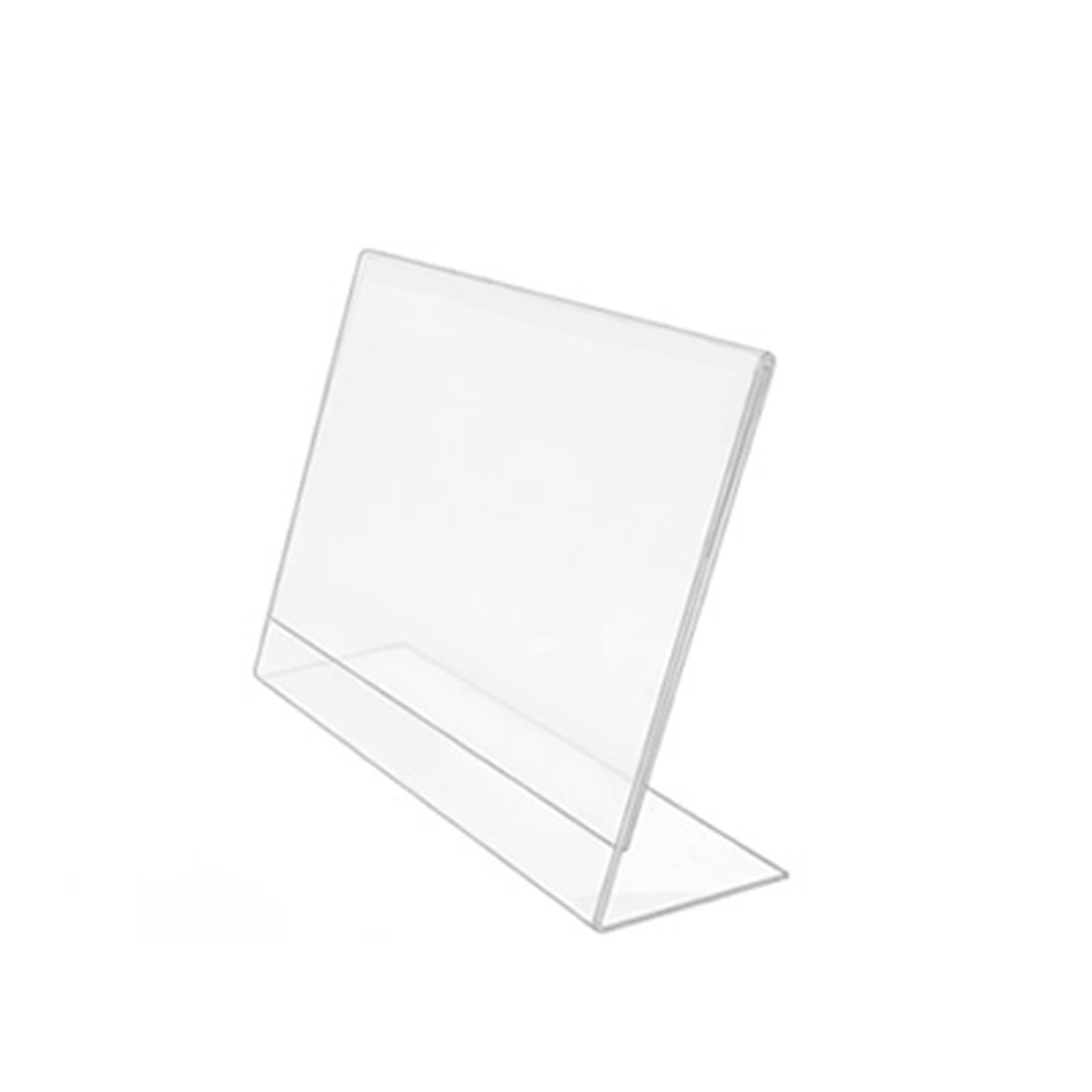 Poster Holder A4 Acrylic POS Leanback Display Landscape pack of 10