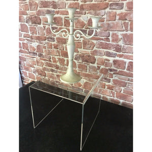 Table Clear Acrylic side table / home /reception/ shop