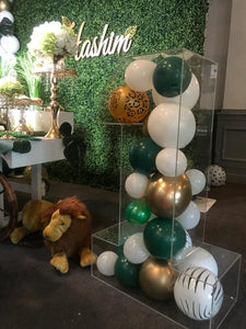 Clear Acrylic Perspex Number Balloon Decoration Display for Birthdays etc.