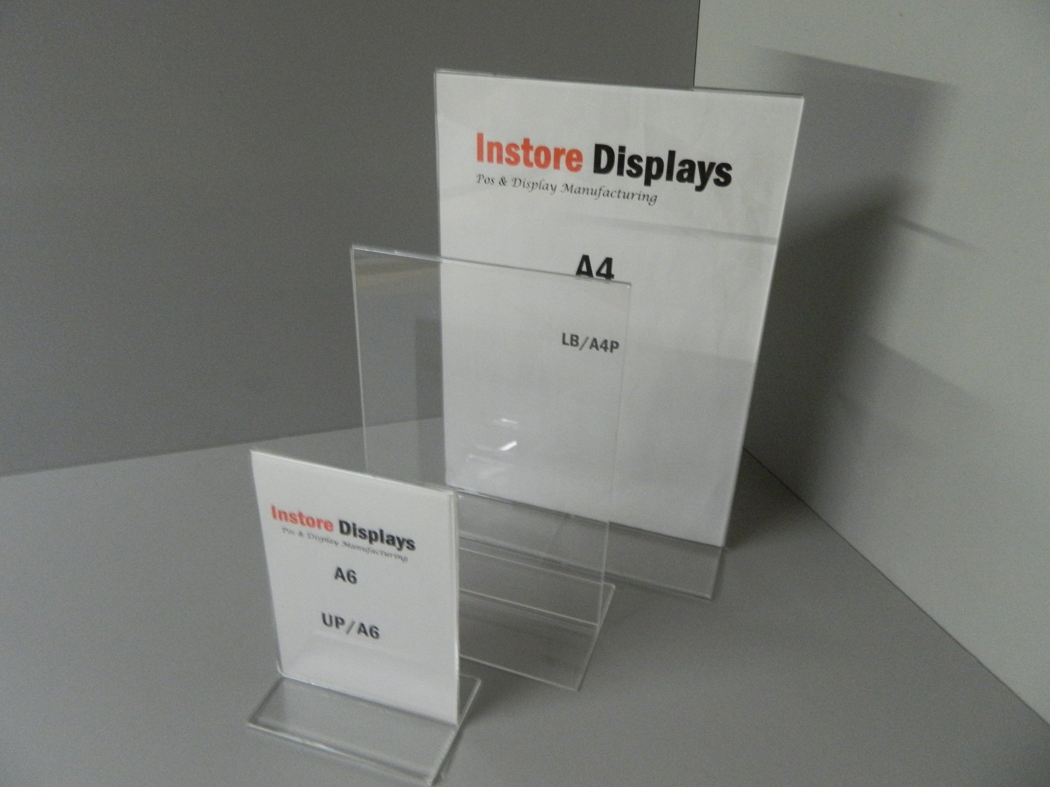Poster holder upright portrait Menu Poster Holders Acrylic Perspex Display Stands