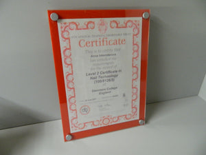poster Holder Quality 2 piece wall mount certificate, diploma, award, memorabilia holder.
