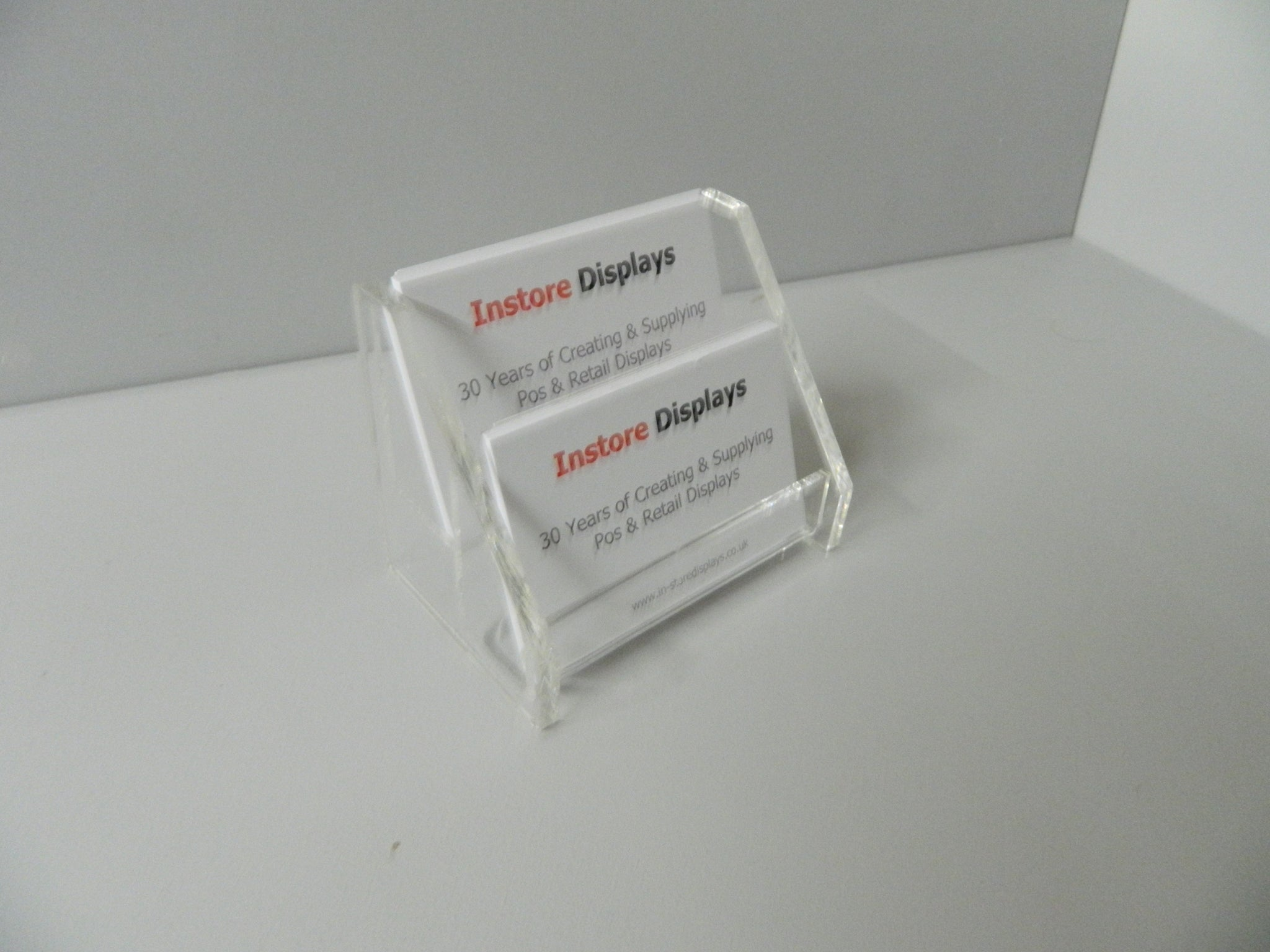 Business card holders 2 step counter display