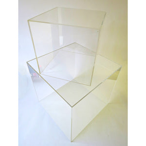Acrylic Display Cubes Clear 200mm Square - 500mm Square