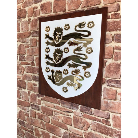 England Crest Display wall mount or freestanding