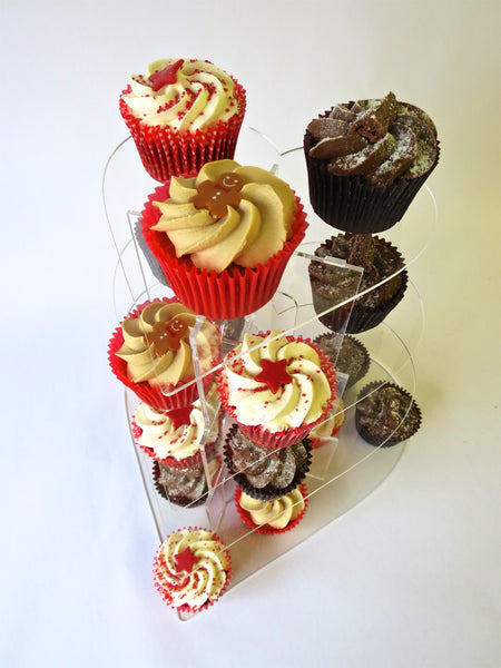 Cake stand 5 tier Heart cupcake Birthday & Celebration.