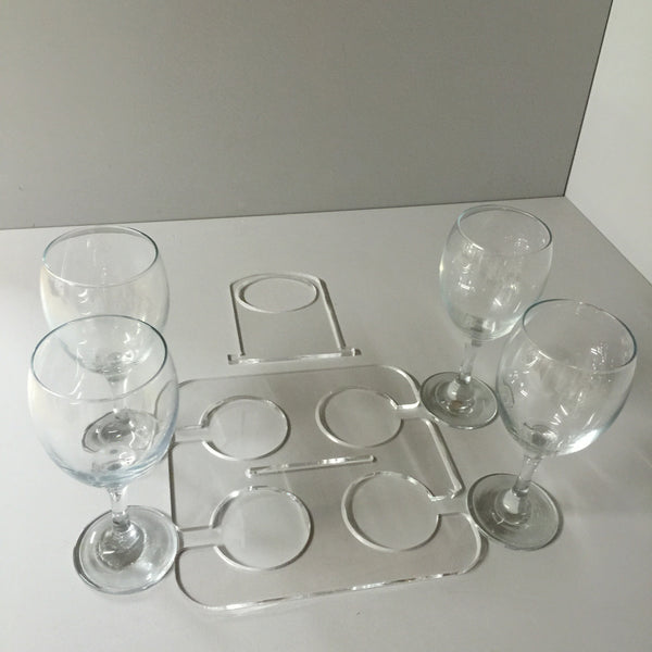 Catering wine glass carrier 2 piece design for easy assembly and storage.
