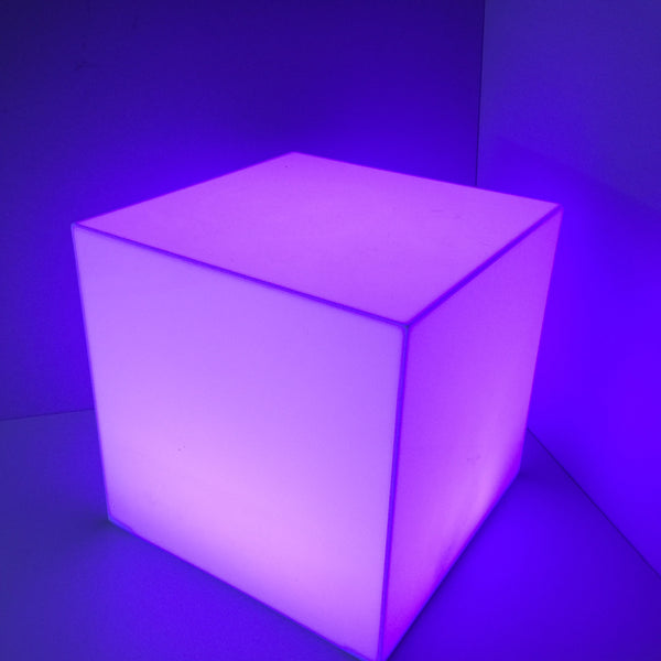 Acrylic illuminated Display Cubes 300mm