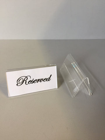 Poster holder 100 x 40mm ticket holders table placing, reserve, reseption, name holders