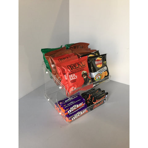 Confectionery, Chocolate bar , Crisps, Condiment etc. 2 Tier Counter Display