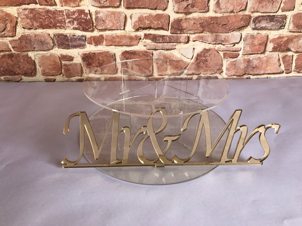 Cake stand single tier Mr & Mrs Cake Stand