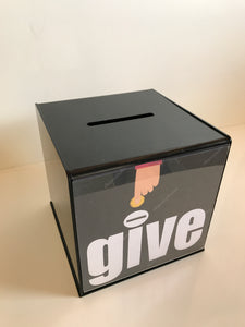 Ballot Box, Collection, suggestion box Black acrylic with Lock & 2 Keys