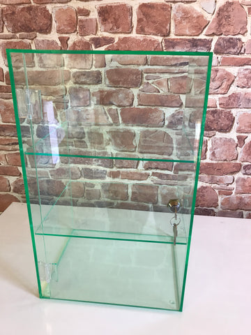 Display Case glass look acrylic cabinet with cam lock