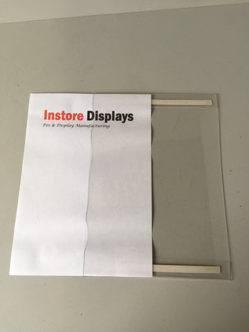 Poster Holder POS ticket holder with double sided self adhesive pack of 3
