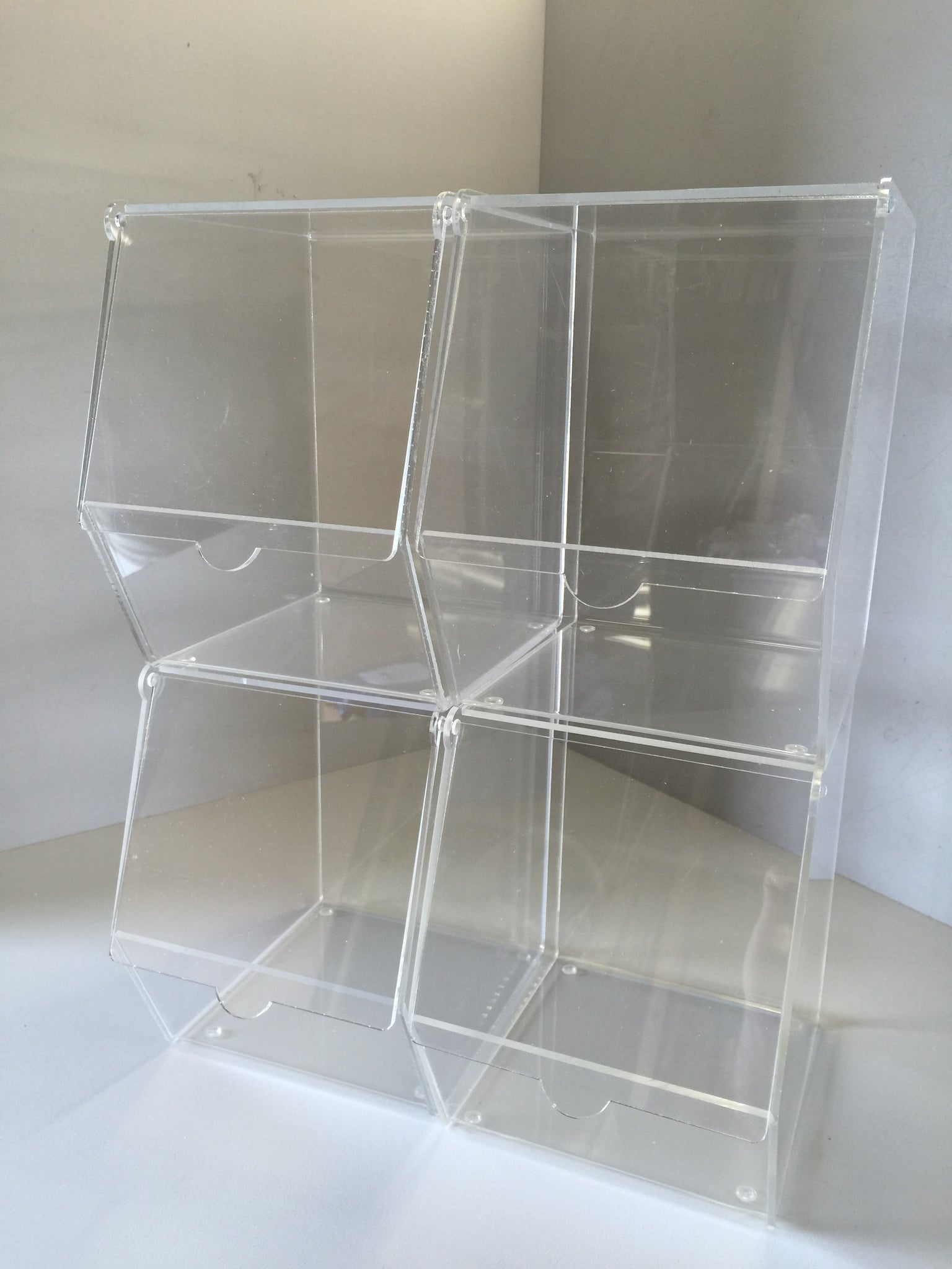 Catering pick & mix bins with hinged door