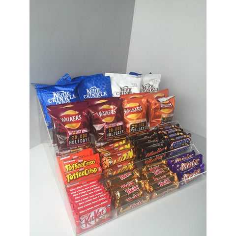 Confectionery, Chocolate bar , Crisps, Condiment etc. 4 Step Counter Display