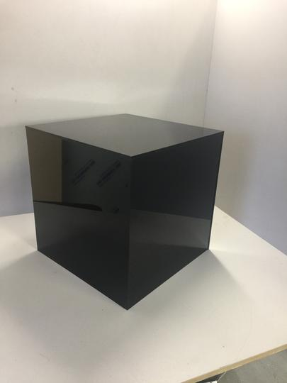 Acrylic Display Cubes Black Gloss 200mmm Square - 500mm Square