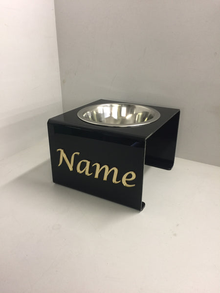 Pets Personalised medium dog bowl stand with 21cm bowl