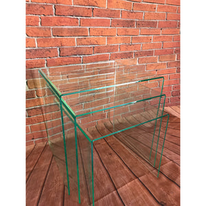 Tables Nest of 3 Tables Glass look acrylic/perspex