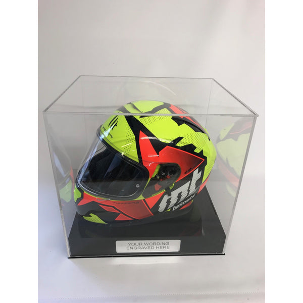 Display Case Crash Helmet Personalised