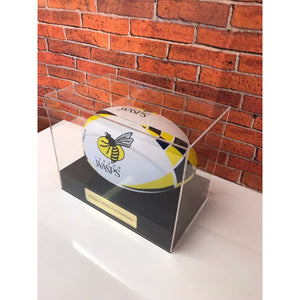 Display Case Rugby Ball personalised
