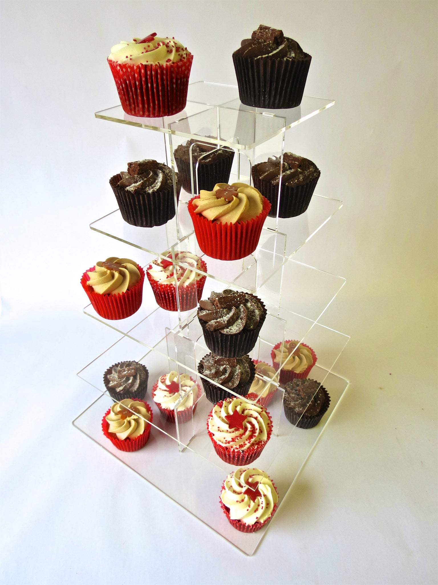 Cake stand 5 tier square cupcake Birthday & Celebration.